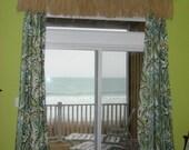 100 percent all Natural Raffia Grass Beach Valance 88 inch. Beach Cottage or  Hawaiin Surf theme Room .  See ALL my pics.
