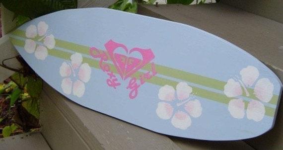 27 Inch Roxy Girl Surfboard Wall Art Beach Sign Hawaiian Surf