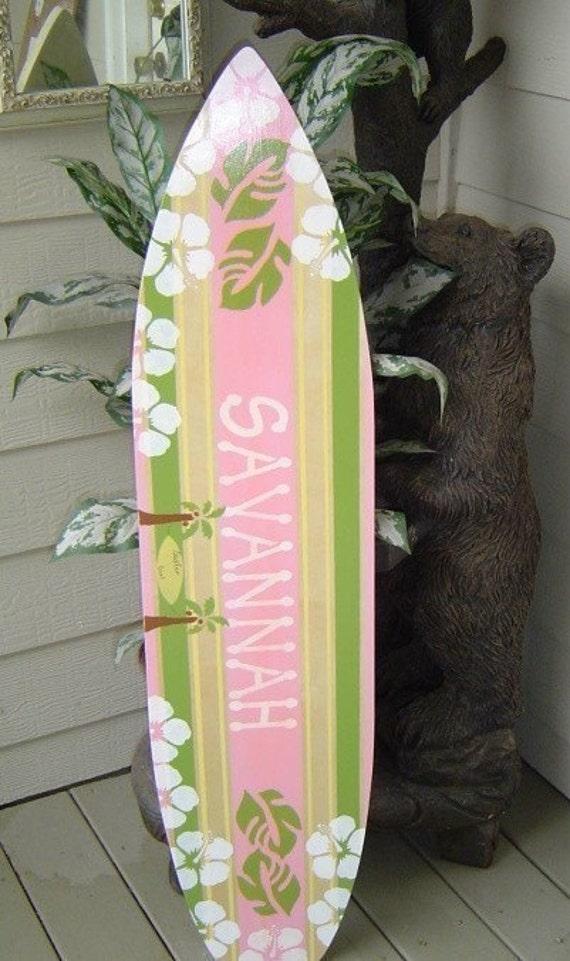 4ft Surfboard Hawaiian Wall Art Decor Wall Hanging Perfect