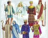 FREE SHIPPING 1992 Simplicity 8152 UNCUT Sewing Pattern Costume Misses, Men's, Teen Boys' Nativity Costumes Size Xs-Xl