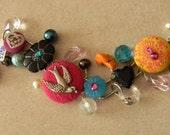 Bird Button bracelet- 325B