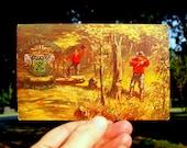Axmen Woodmen of America Vintage Postcard, Fraternal Loggers; Lumber jacks