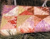 Table Runner Moda Gypsy Rose Handmade Quilted Table Runner - Home Decor