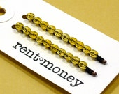 beaded bobby pins - elaine in acid yellow
