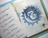 THE KNOWING - Handmade, Hand-scripted Greeting Card (soulmate, anniversary, commitment) with quote by Paulo Coelho