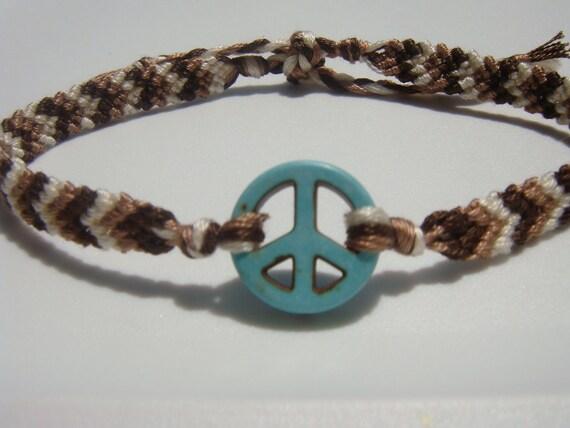 Peace Sign Friendship Bracelet