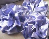 Satin Flower Puffs x 6 Iris Periwinkle Blue - Headband Flower / Hair Flower / Craft Flowers ALL SALES FINAL