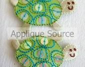 Sequin Sea Turtle Iron-on Appliques - Set of 2