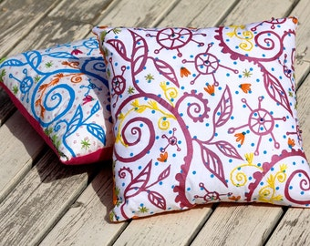 Pink Doodles Pillow