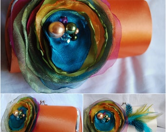 Tropical Destination Wedding | Custom Clutch Handbags | Bridesmaid Gift Idea - Maid of Honor Gift - Set of 4 | Personalized Clutch | Formal