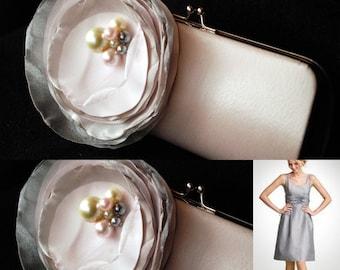 Bridesmaid Clutch - Bridesmaid Clutches - Bridesmaid Gift Idea - Formal Clutch Handbag - Pale Light Pink Custom Clutch