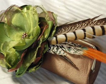 Bridesmaid Clutch | Bridesmaid Bouquet Clutch | Bridesmaid Gift Idea | Pheasant Feathers | Personalized Clutch | Custom Clutches | Prom