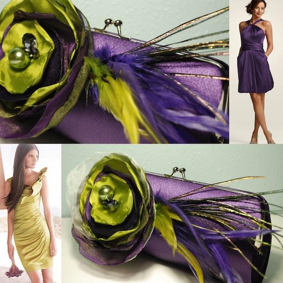 Lapis Color Bridesmaid Clutch - Bridesmaid Bouquet Clutch - Bridesmaid Gift Idea - Personalized Clutch - Set of 5 made for KristinLB