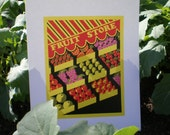 SALE - 2 DOLLARS OFF - Fruit Store Colorful Restored WPA Art Print