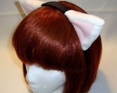 White/Pink Kitty Ear Headband