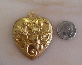 Floral Brass Pendant