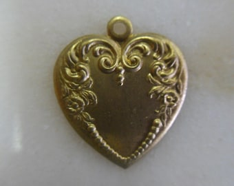 Floral Brass Heart Shaped Pendant