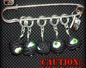 Caution.....Live Yarns Stitch Markers (Eyes)