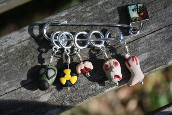 Zombie Apocalypse Stitch Markers (Set of 5)