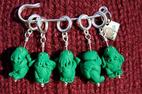Cthulhu Knitting Creature Stitch Markers (Set of 5)