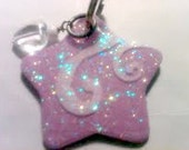 Handpainted Dog Pet ID Tag Princess Sparkle Pink Star Custom for YOU