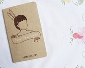 Personalized Notebook - Feather Girl