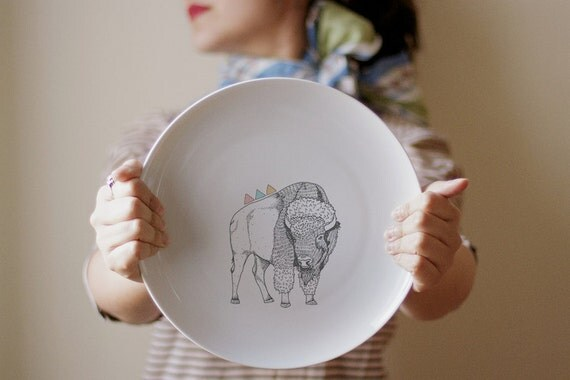 Happy Bison - Dinner Plate