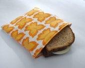 Happy Butterflies Reusable Sandwich Bag w/ Water-Resistant Lining