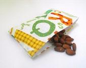 Alphabet Soup Reusable Snack Baggie w/ Water Resistant Lining