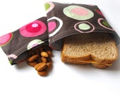 Reusable Sandwich and Snack Bag Set -- Stylish Circles