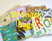 10 Reusable Snack Bags- Mix and Match