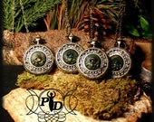 Dragon eye Pendant watch, necklace, clock amulet, magical dragon eyes for your neck