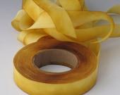 Silk Ribbon, Hand Dyed Silk Ribbon 5/8 wide 3 yd piece