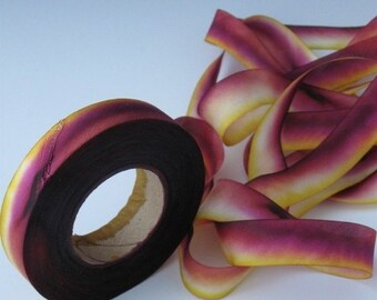 Dyed Silk Ribbon, bias-cut