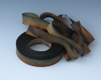 Hand dyed bias-cut silk ribbon RB