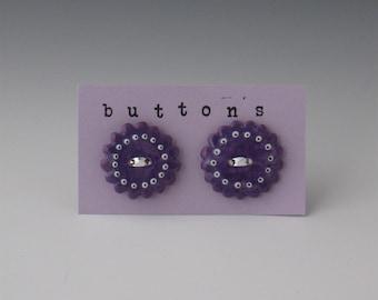 Ceramic Buttons, Ceramic Button, Buttons Ceramic, Button Ceramic, Purple Ceramic Buttons, Purple Buttons