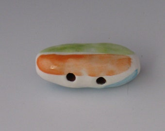 Ceramic Beads, Oval Ceramic Beads, Ceramic beads, Bead, Multicolored Beads