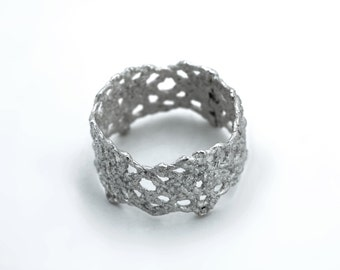 Vintage Lace Band Ring - Sterling Silver