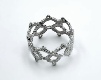 Vintage Tatted Lace Ring