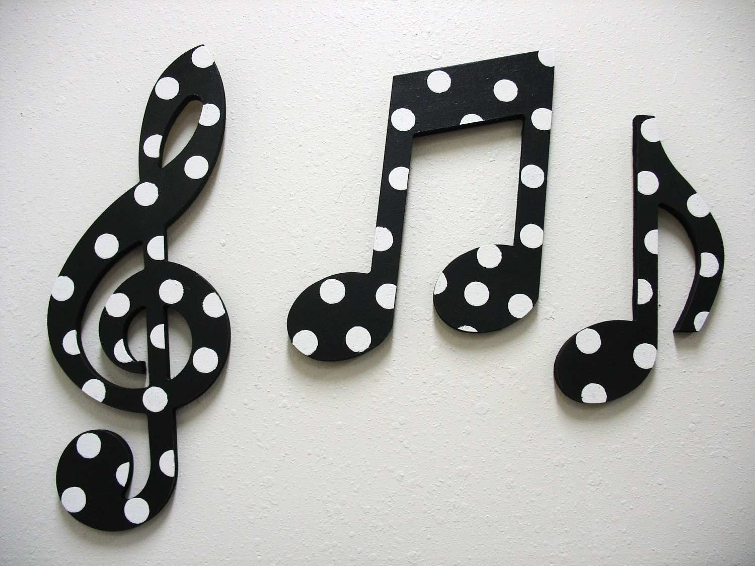 items similar to music notes wall decor black and white on