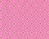michael miller  clover  dot  in Pink   fabric 1 yard Mezzanine by Patty Young