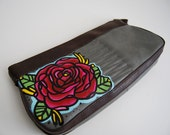 Rose Clutch -  Hand Painted Tattoo Art