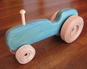 birdy boots 'My First Tractor' - BLUE...large wooden toy