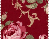 Antique Rose by Lecien Red/Pink Roses on a red background 30266-30