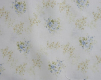 Rose Fabric Collection 12 by Quilt Gate 1040 13C Blue Rose Garlands