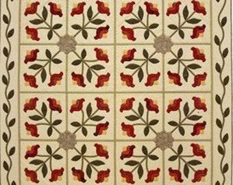 Tuileries Quilt Pattern Floral Applique