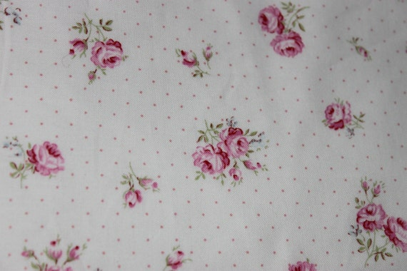 Yuwa Pink Roses Pink Dots Fabric CR811022