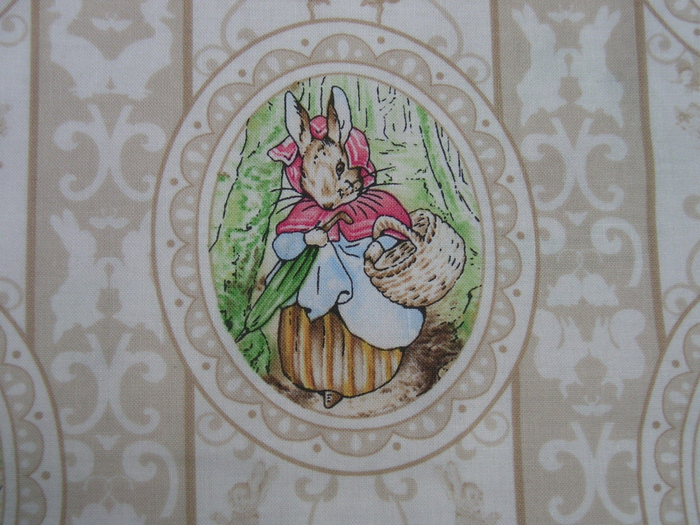 Beatrix Potter Victorian Nursery Quilt Fabric 20357e Cameos