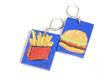 Hand Painted Happy Meal Earrings