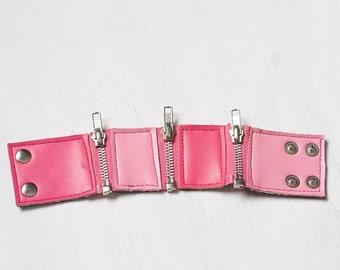 Pink Cupcake - Fushia Zip Segment Bracelet